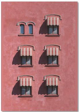Red Vintage Wall -Notizblock