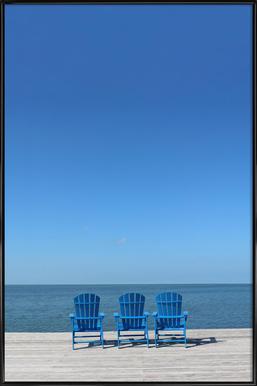 Ocean View -Bild mit Kunststoffrahmen