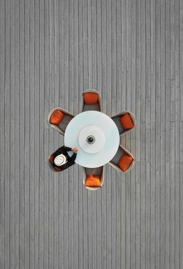 Lonely Lunch -Acrylglasbild