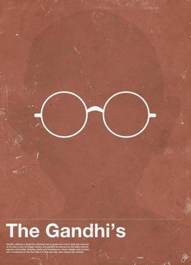 Framework Gandhi Canvas Print