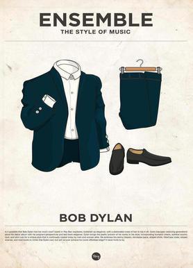Ensemble Bob Dylan Canvas Print