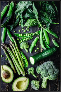 Grünes Gemüse affiche encadrée