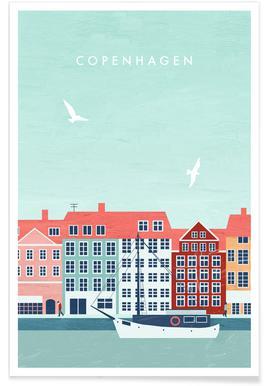 Retro Kopenhagen Poster