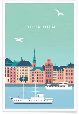 Retro Stockholm Poster