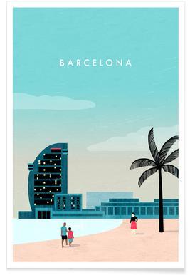 Barcelona - retro Poster