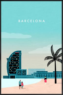 Barcelona Poster in kunststof lijst