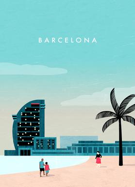 Barcelona Leinwandbild