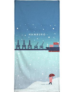 Hamburg Im Winter Handdoek