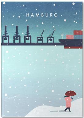 Hamburg Im Winter Notizbuch