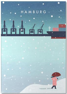 Hamburg Im Winter Notizblock