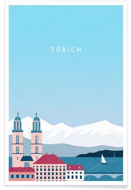 Retro Zürich Poster