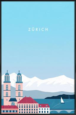 Zürich Plakat i standardramme