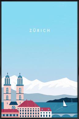 Zürich Poster im Kunststoffrahmen