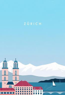Zürich Aluminium Print
