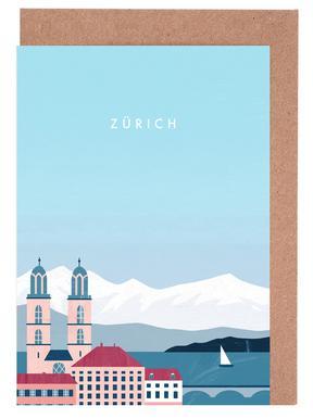 Zürich -Grußkarten-Set