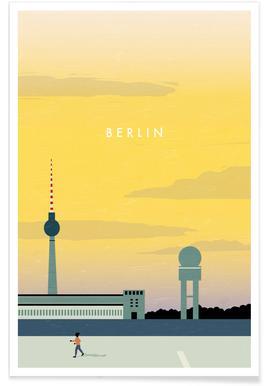 Berlijn - retro Poster