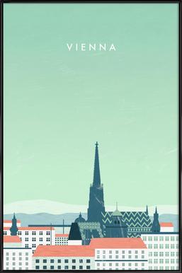 Wien Poster in Standard Frame