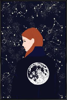 Back to the Moon -Bild mit Kunststoffrahmen