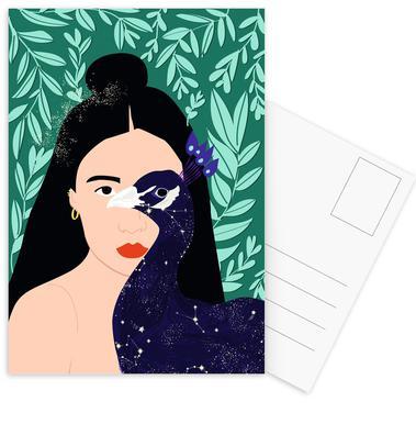Peacock -Postkartenset