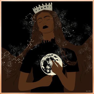 The Moon Queen -Poster im Alurahmen