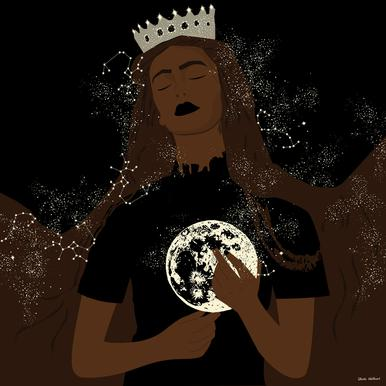 The Moon Queen -Acrylglasbild