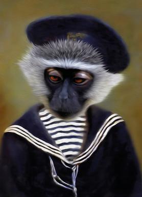 The Sad Monkey Impression sur toile