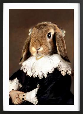 Miss Bunny Rabbit Framed Print