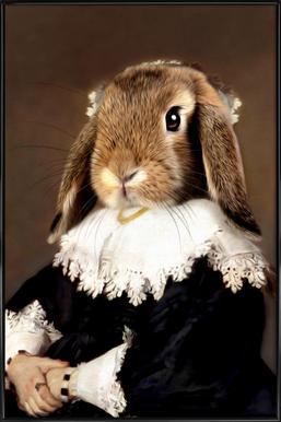 Miss Bunny Rabbit Affiche sous cadre standard