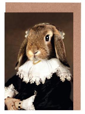 Miss Bunny Rabbit Greeting Card Set