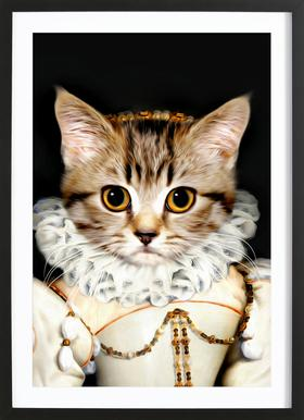 Miss Poes Poster in Wooden Frame