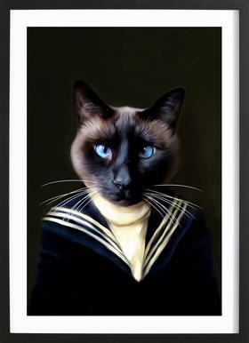 Dorus the Sailor Affiche sous cadre en bois