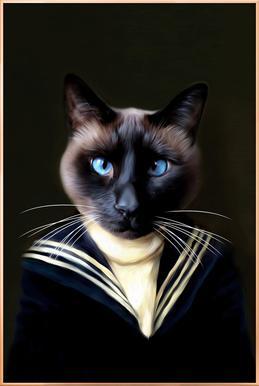 Dorus the Sailor Affiche sous cadre en aluminium