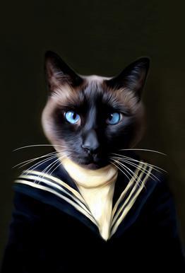 Dorus the Sailor Impression sur alu-Dibond