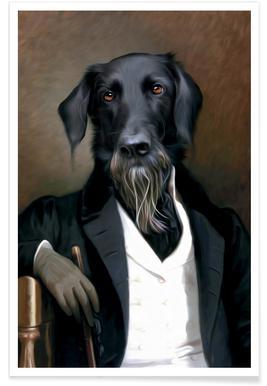 Einstein Beard Poster