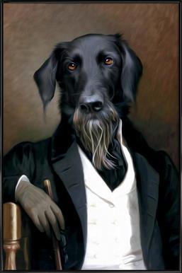 Einstein Beard affiche encadrée