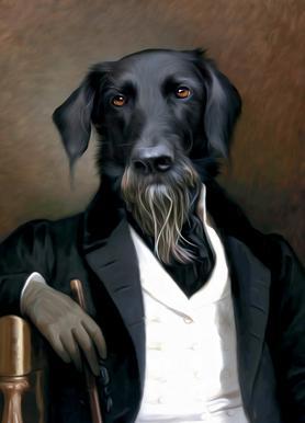 Einstein Beard Canvas Print