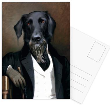 Einstein Beard Set de cartes postales
