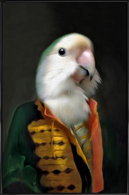 Papagaai Daan Affiche sous cadre standard