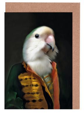 Papagaai Daan Set de cartes de vœux