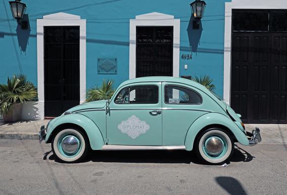 Mexican Beetle 27 tableau en verre