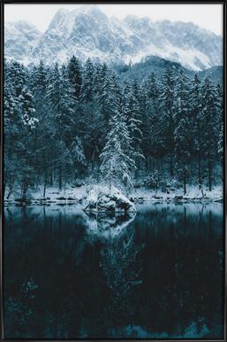 Snowy Peaks by @regnumsaturni Framed Poster