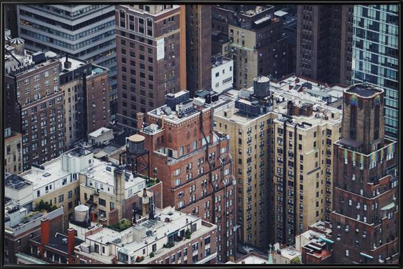 The Rooftops of NYC by @Merethee -Bild mit Kunststoffrahmen