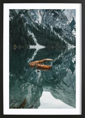 Orange Fleet by @DaniKla Framed Print
