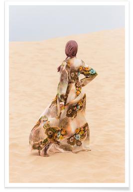 Desert Dance by Kurshid Samarqandiy Poster