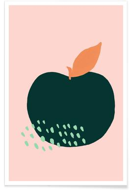 Joyful Fruits - Apple -Poster