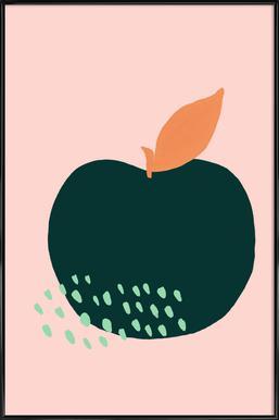 Joyful Fruits - Apple Affiche sous cadre standard