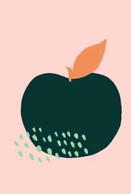 Joyful Fruits - Apple Impression sur alu-Dibond