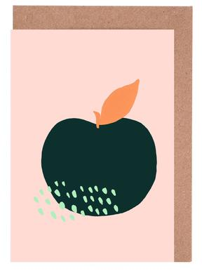 Apples greeting cards juniqe joyful fruits apple atelier mave greeting card set m4hsunfo