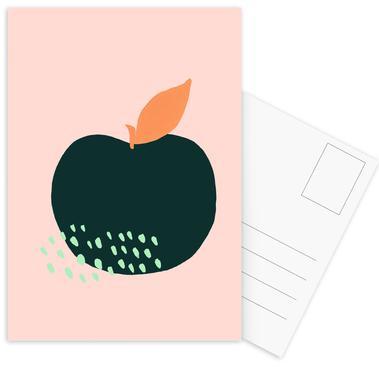 Joyful Fruits - Apple -Postkartenset