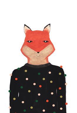 Fox with Sweater -Alubild